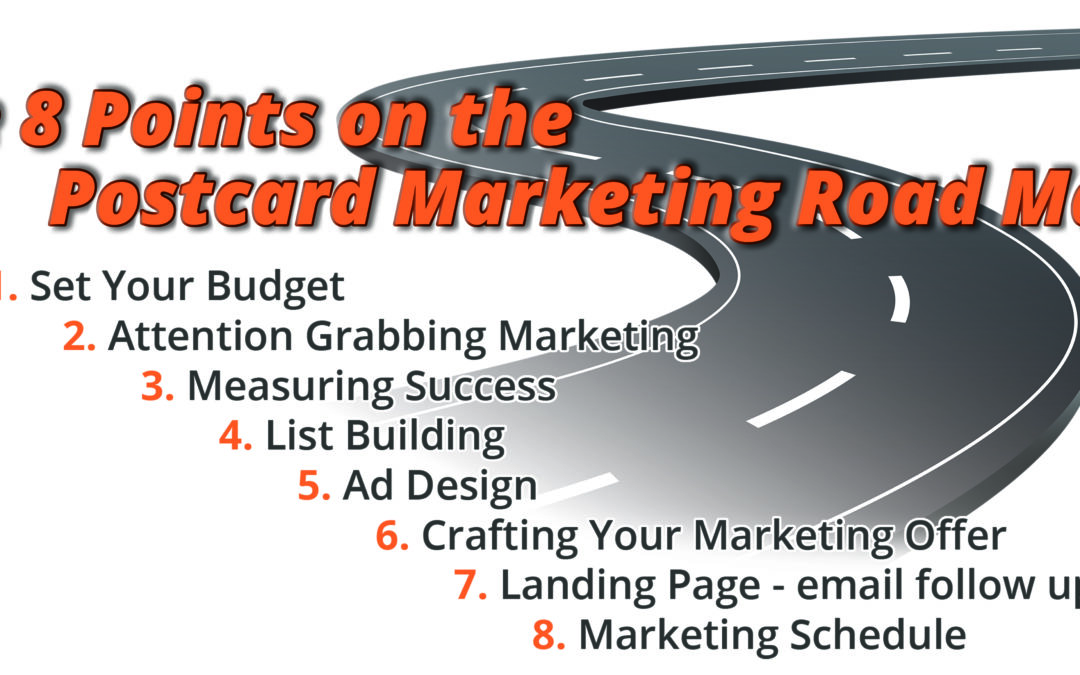 The 8 points on the Postcard Marketing Road Map